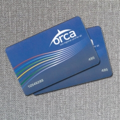Customized Printed PVC RFID Ticket for Bus/Metro/Train